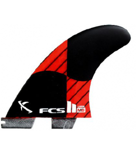 FCS II MB PC Carbon L Rocket Red Tri Fins 2016